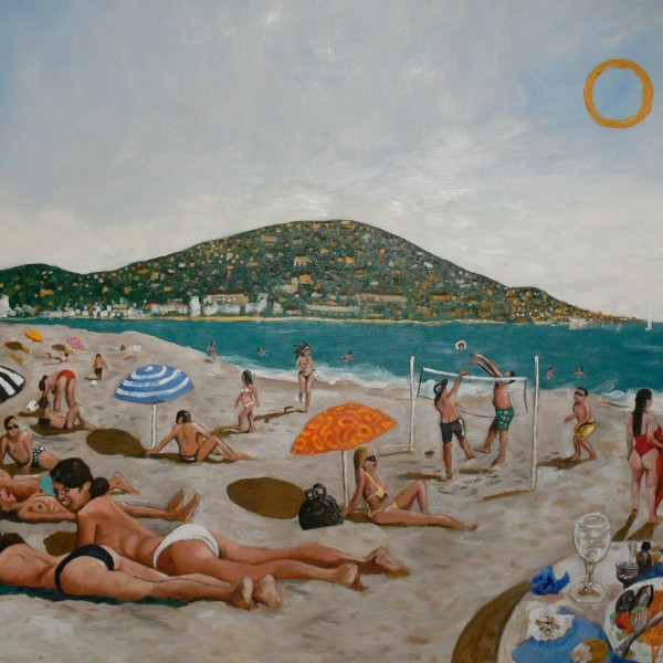 'Summers in Sète' (122x142cm) oil on canvas (private collection)