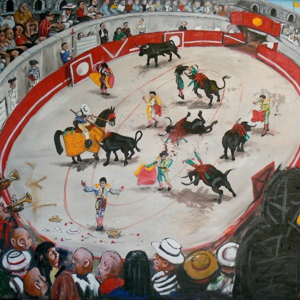 'Corrida' (122x142cm) oil on canvas (private collection)
