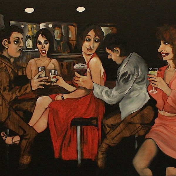 'Bar/Room/Nights' (80x100cm) oil on canvas (2013)