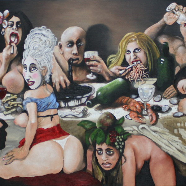 'Gluttons' (80x120cm) oil on canvas 2015