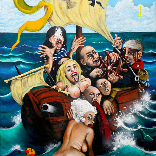 'The ship of fools' (164x75cm) oil on canvas (2015)